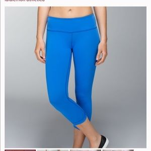 Lululemon Wunder Under Crop Reversible Leggings